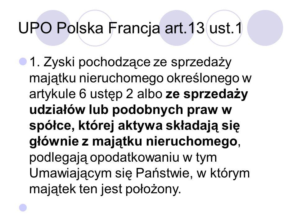 UPO Polska Francja art.13 ust.1 1.