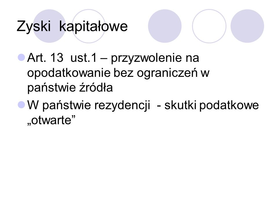 Zyski kapitałowe Art.