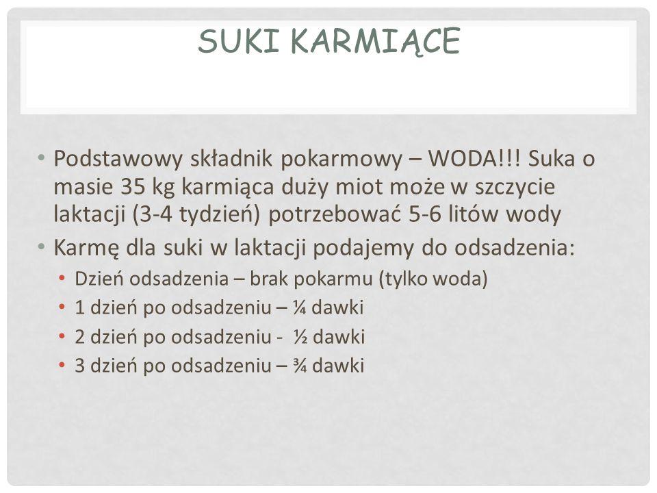 SUKI KARMIĄCE Podstawowy składnik pokarmowy – WODA!!.