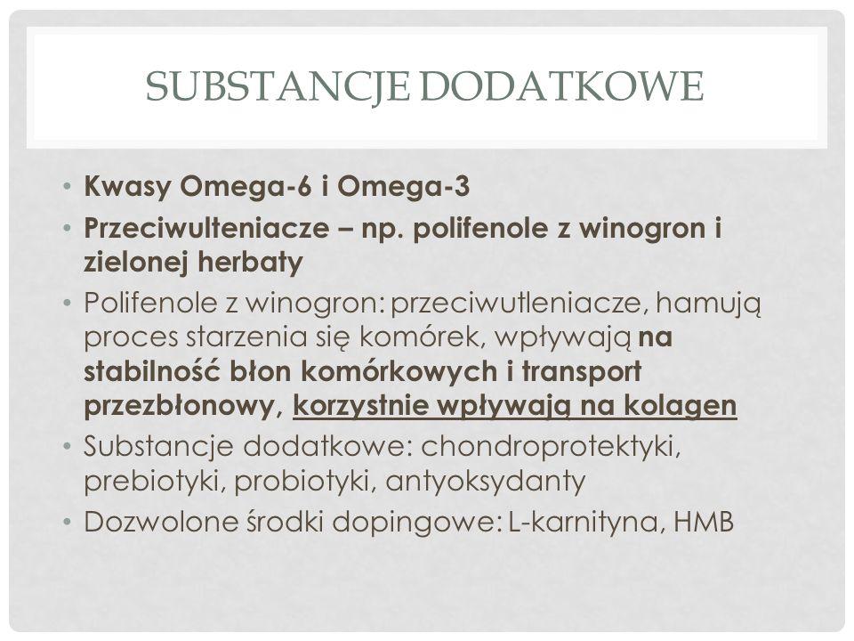 SUBSTANCJE DODATKOWE Kwasy Omega-6 i Omega-3 Przeciwulteniacze – np.