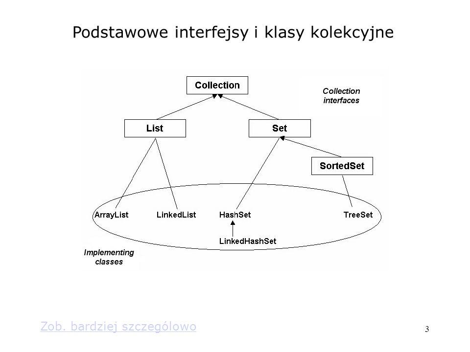 3 Podstawowe interfejsy i klasy kolekcyjne Zob. bardziej szczególowo