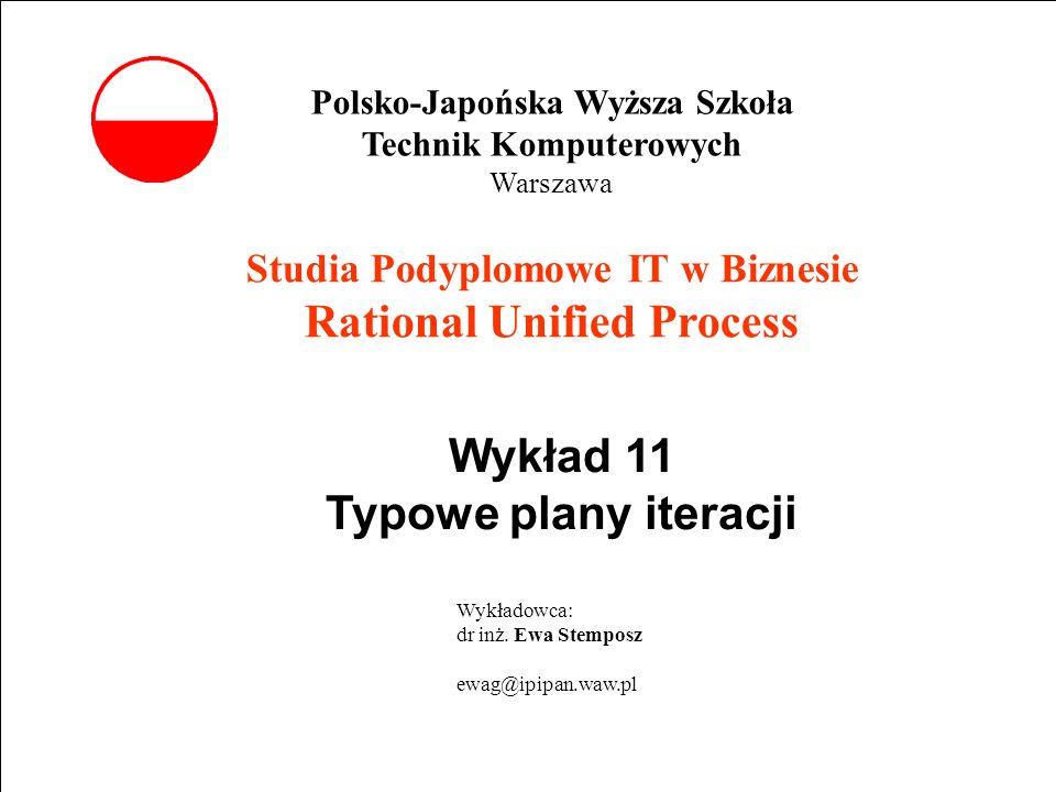 E. Stemposz. Rational Unified Process, Wykład 11, Slajd 1 wrzesień 2002 Powrót Studia Podyplomowe IT w Biznesie Rational Unified Process Wykład 11 Typ