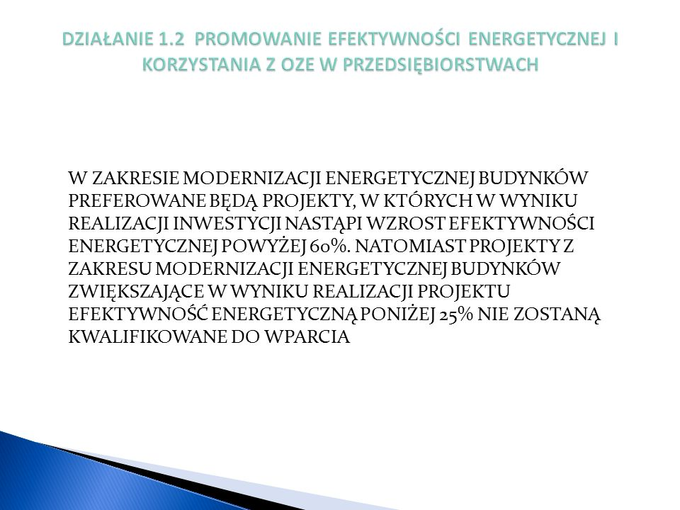 PROGRAM PRIORYTETOWY POPRAWA EFEKTYWNOŚCI ENERGETYCZNEJ CZĘŚĆ 4) RYŚ – TERMOMODERNIZACJA BUDYNKÓW JEDNORODZINNYCH