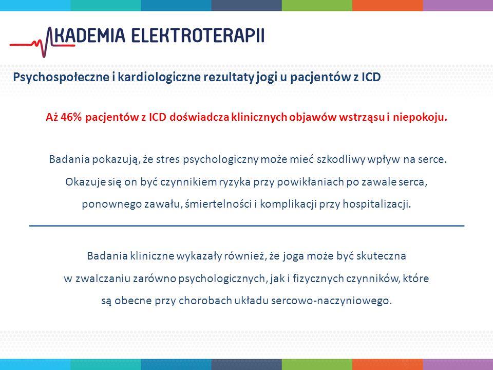 Aż 46% pacjentów z ICD doświadcza klinicznych objawów wstrząsu i niepokoju.