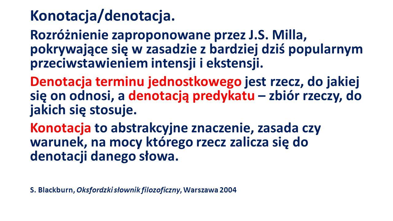 Konotacja/denotacja. Rozróżnienie zaproponowane przez J.S.