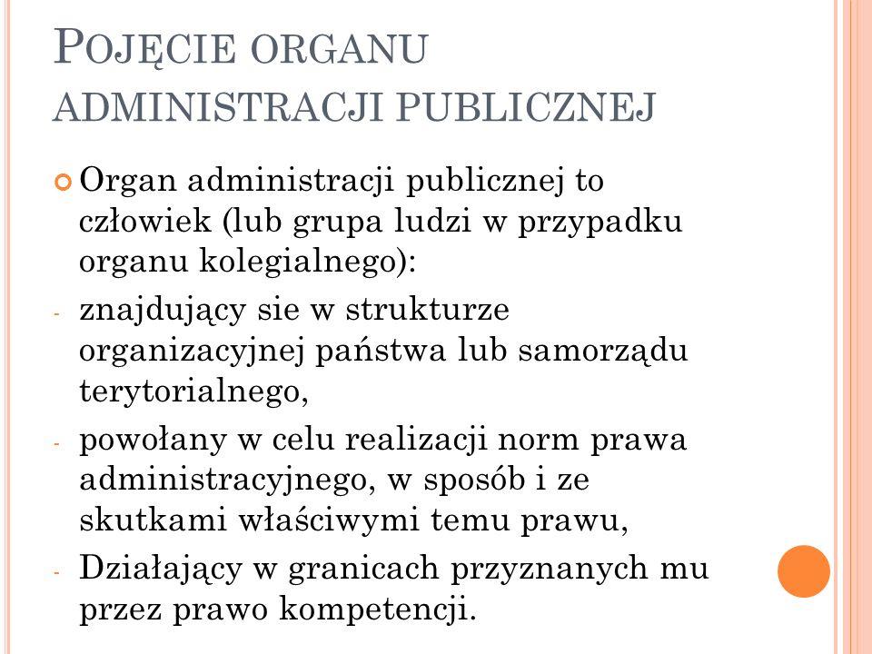 K LASYFIKACJA ORGANÓW ADMINISTRACJI PUBLICZNEJ Organy administracji państwowej, rządowej i samorządowej.