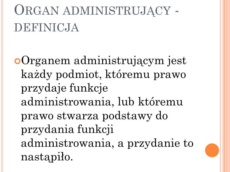 P OJĘCIE URZĘDU - DEFINICJE Urząd – wyodrębniony zespół kompetencji (praw i obowiązków związanych z określonym organem administracji publicznej).