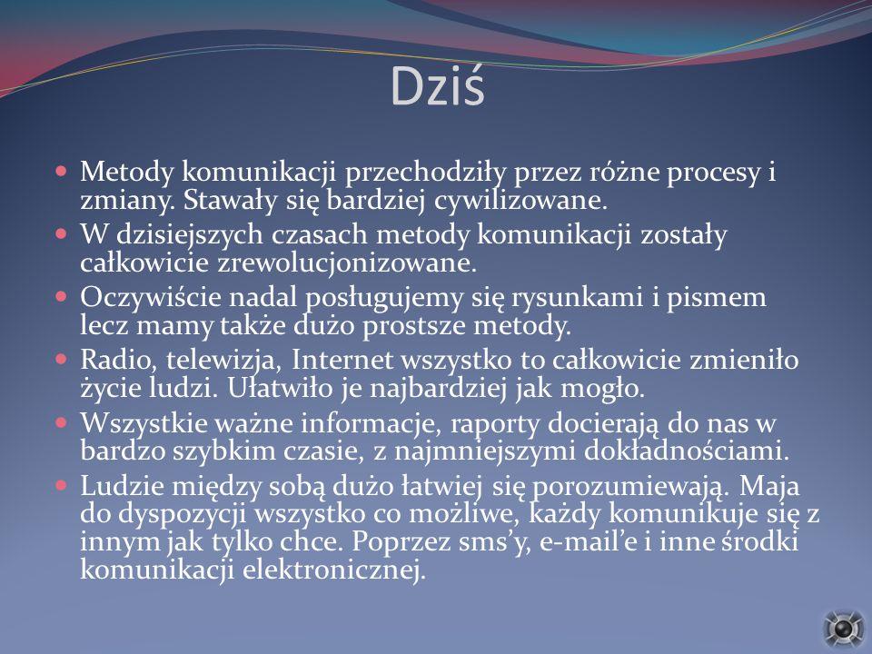 Komunikacja na odległość W dzisiejszych czasach bardzo dużo informacji jest przekazywanych drogą elektroniczną.
