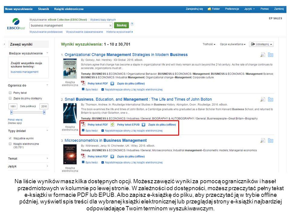 Zobacz spis treści książki elektronicznej klikając link Spis treści poniżej linku Pełny tekst.