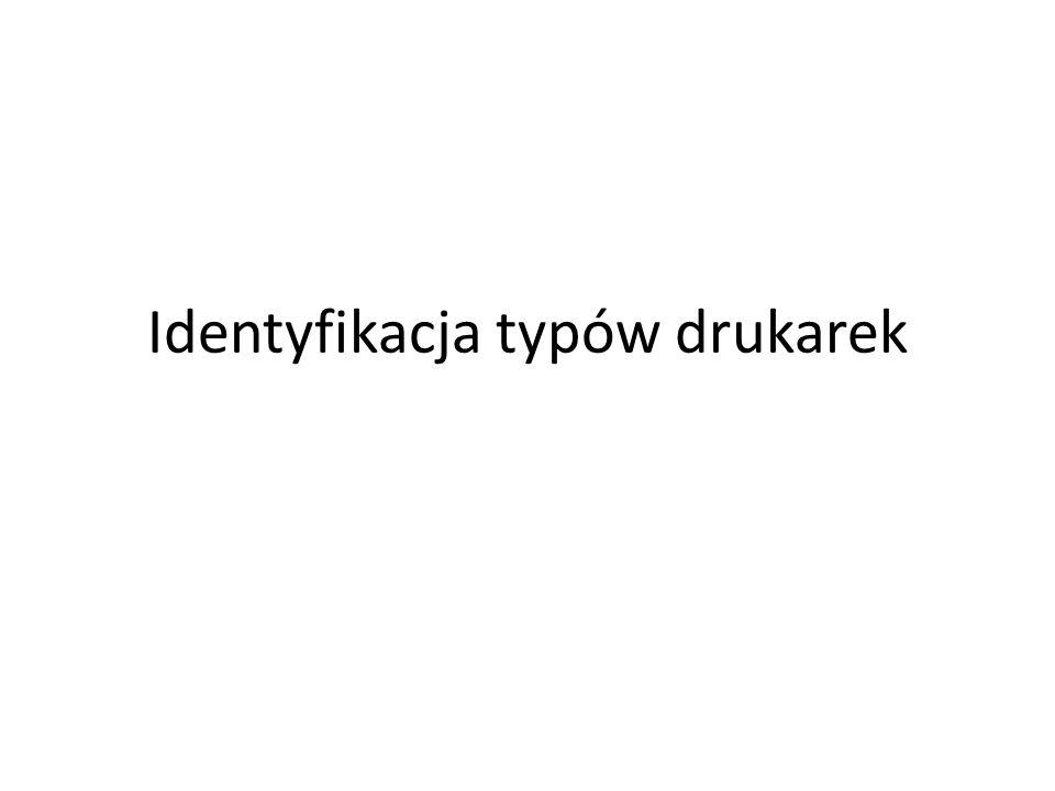 Identyfikacja typów drukarek