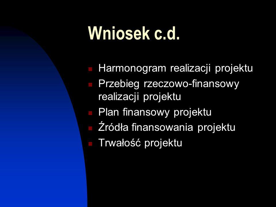 Wniosek c.d.