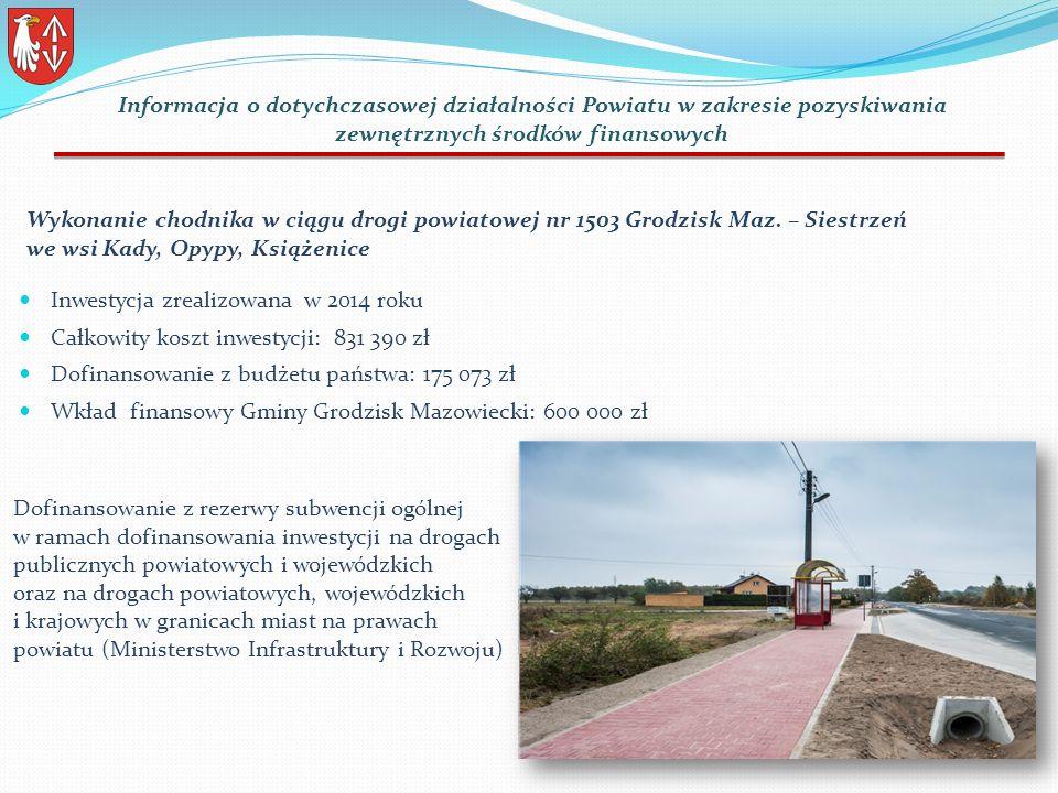 Wykonanie chodnika w ciągu drogi powiatowej nr 1503 Grodzisk Maz.
