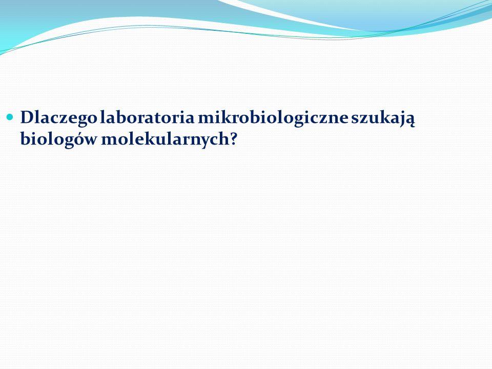 Dlaczego laboratoria mikrobiologiczne szukają biologów molekularnych?