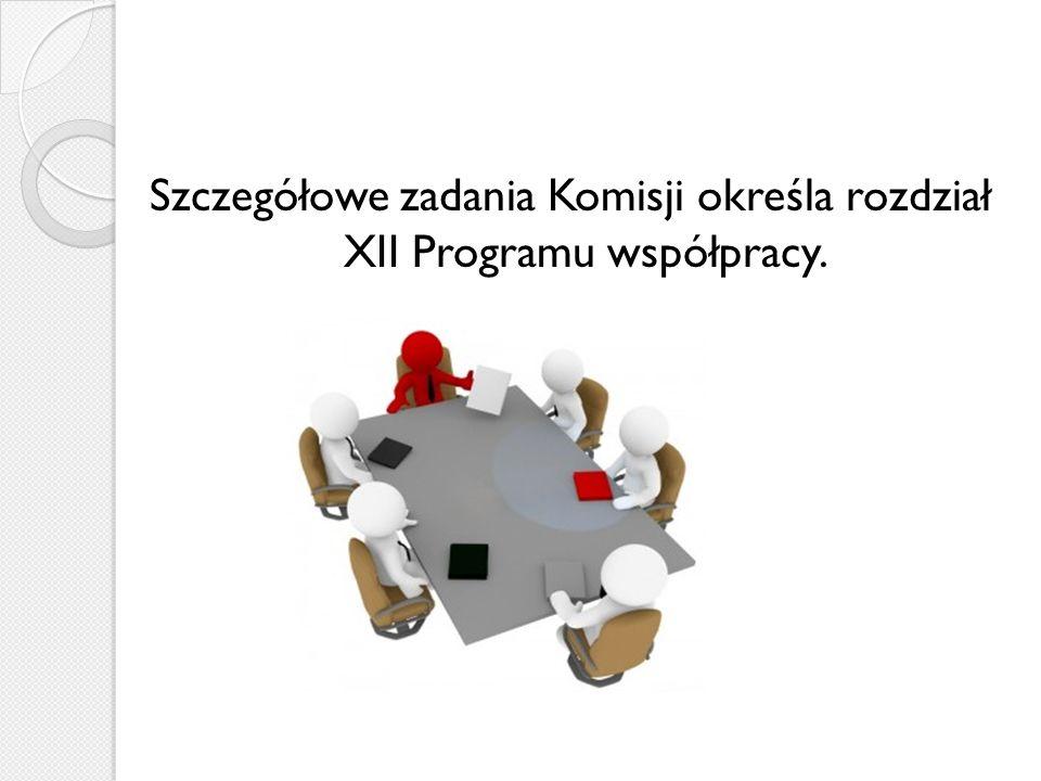 Szczegółowe zadania Komisji określa rozdział XII Programu współpracy.