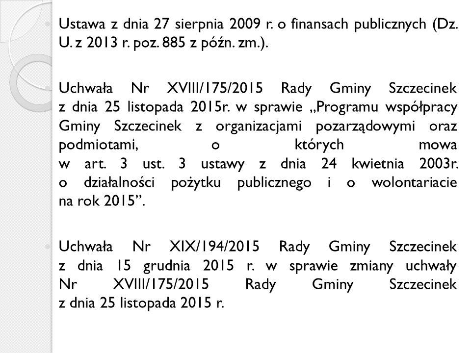 Ustawa z dnia 27 sierpnia 2009 r. o finansach publicznych (Dz.