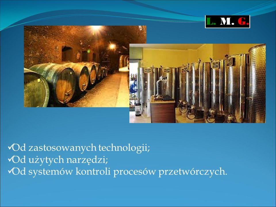 Od zastosowanych technologii; Od użytych narzędzi; Od systemów kontroli procesów przetwórczych.