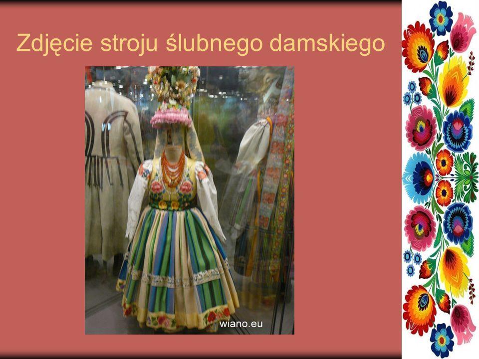 Zdjęcie stroju ślubnego damskiego