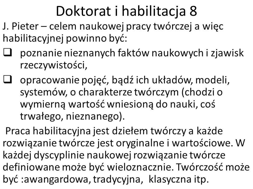 Doktorat i habilitacja 8 J.