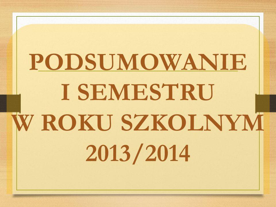 PODSUMOWANIE I SEMESTRU W ROKU SZKOLNYM 2013/2014