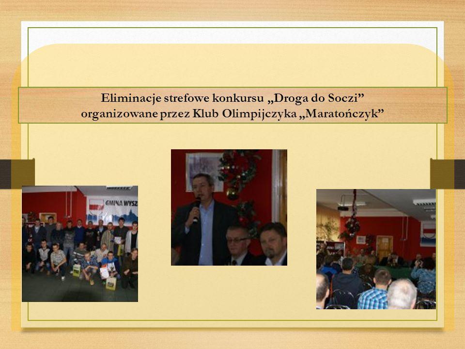 """Eliminacje strefowe konkursu """"Droga do Soczi organizowane przez Klub Olimpijczyka """"Maratończyk"""