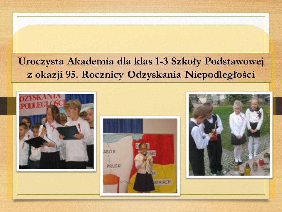 Uroczysta Akademia dla klas 1-3 Szkoły Podstawowej z okazji 95. Rocznicy Odzyskania Niepodległości