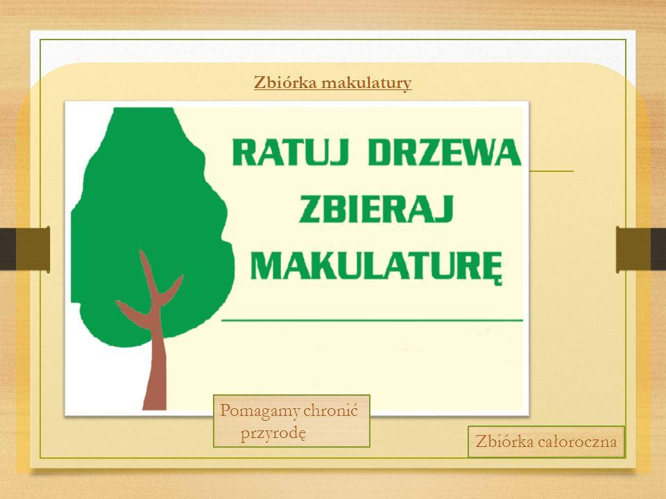 Zbiórka makulatury Pomagamy chronić przyrodę Zbiórka całoroczna