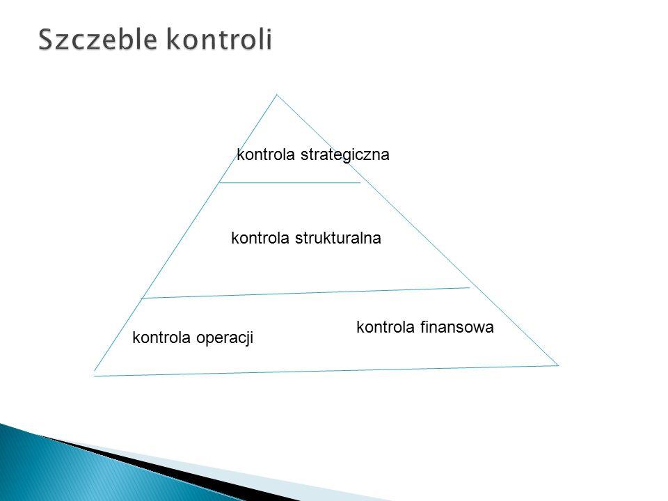 kontrola operacji kontrola finansowa kontrola strukturalna kontrola strategiczna