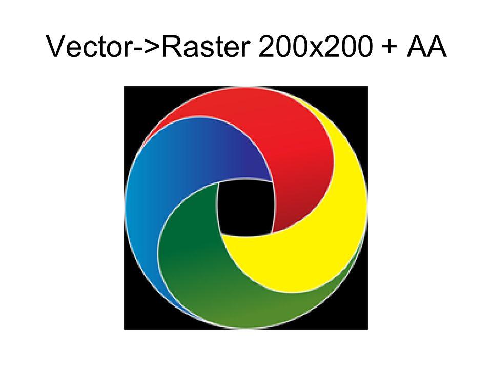 Vector->Raster 200x200 + AA