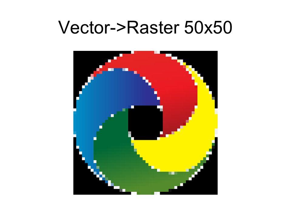 Vector->Raster 50x50