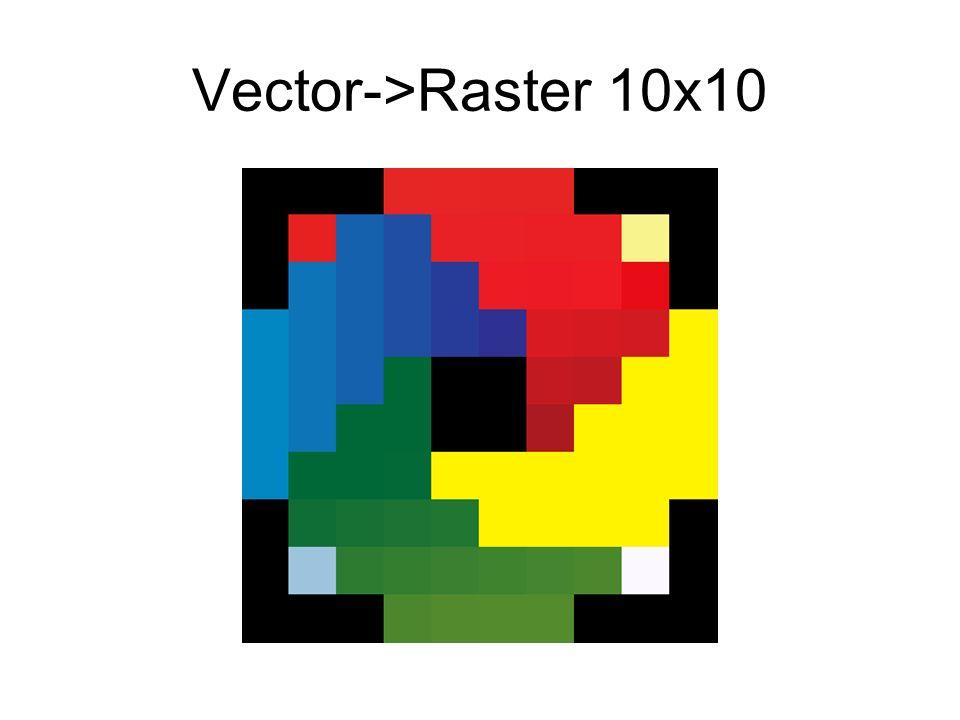 Vector->Raster 10x10