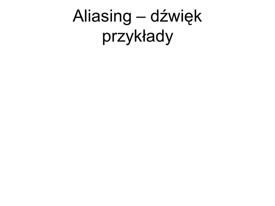 Aliasing – dźwięk przykłady