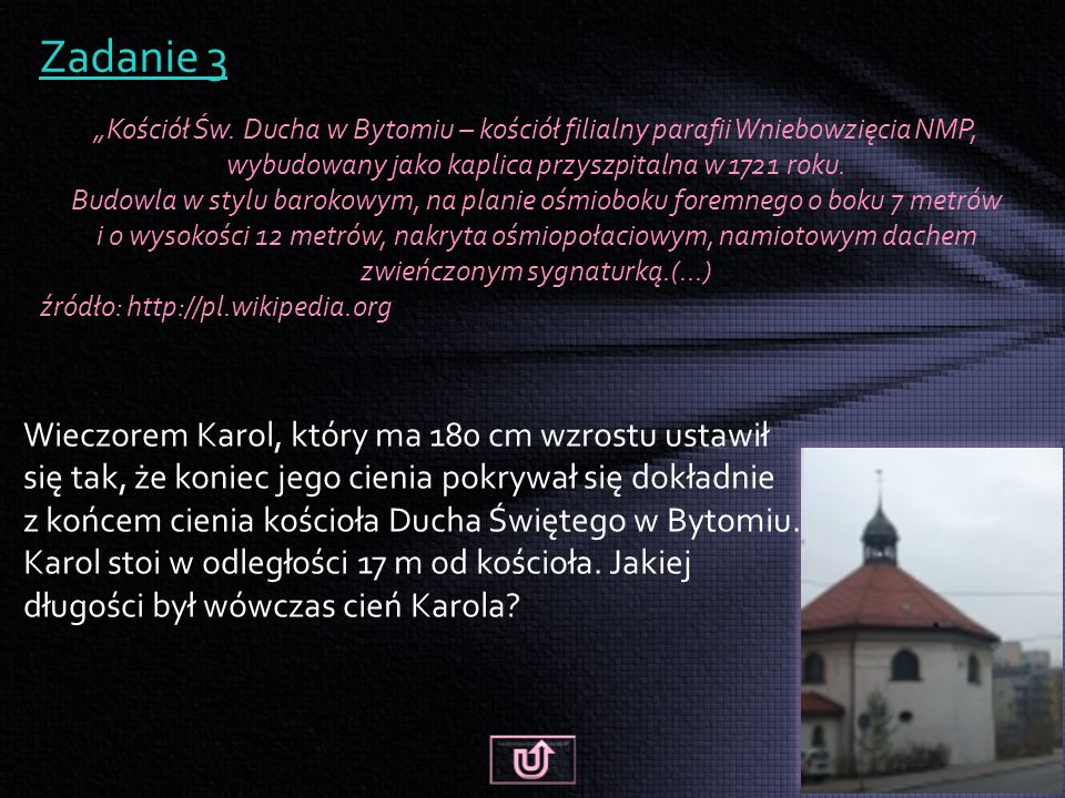 """Zadanie 3 """"Kościół Św."""