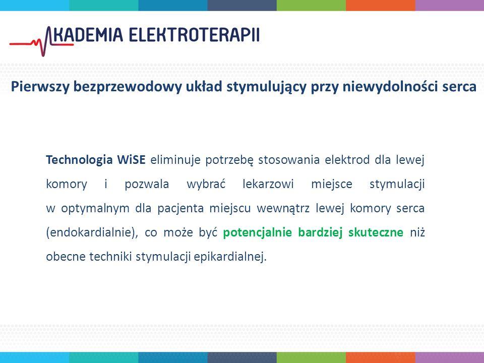 Technologia WiSE eliminuje potrzebę stosowania elektrod dla lewej komory i pozwala wybrać lekarzowi miejsce stymulacji w optymalnym dla pacjenta miejscu wewnątrz lewej komory serca (endokardialnie), co może być potencjalnie bardziej skuteczne niż obecne techniki stymulacji epikardialnej.