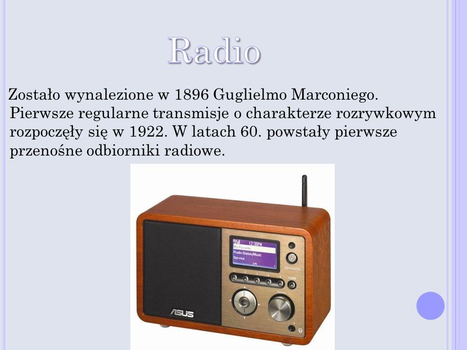 Zostało wynalezione w 1896 Guglielmo Marconiego. Pierwsze regularne transmisje o charakterze rozrywkowym rozpoczęły się w 1922. W latach 60. powstały
