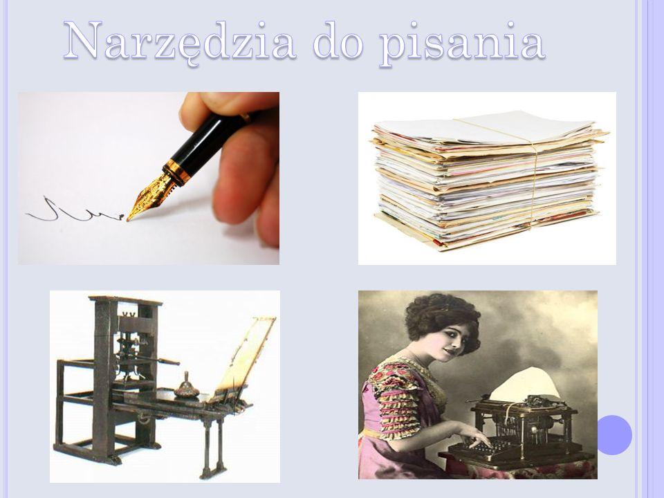 Około 100 n.e.zaczęto wytwarzać papier. X wiek n.e.