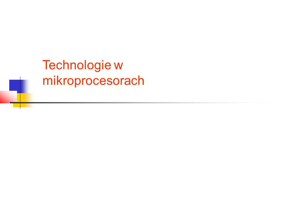 Technologie w mikroprocesorach