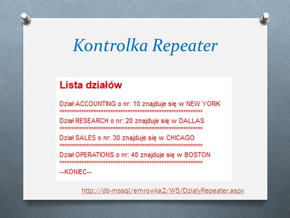 Kontrolka Repeater http://db-mssql/emrowka2/W5/DzialyRepeater.aspx