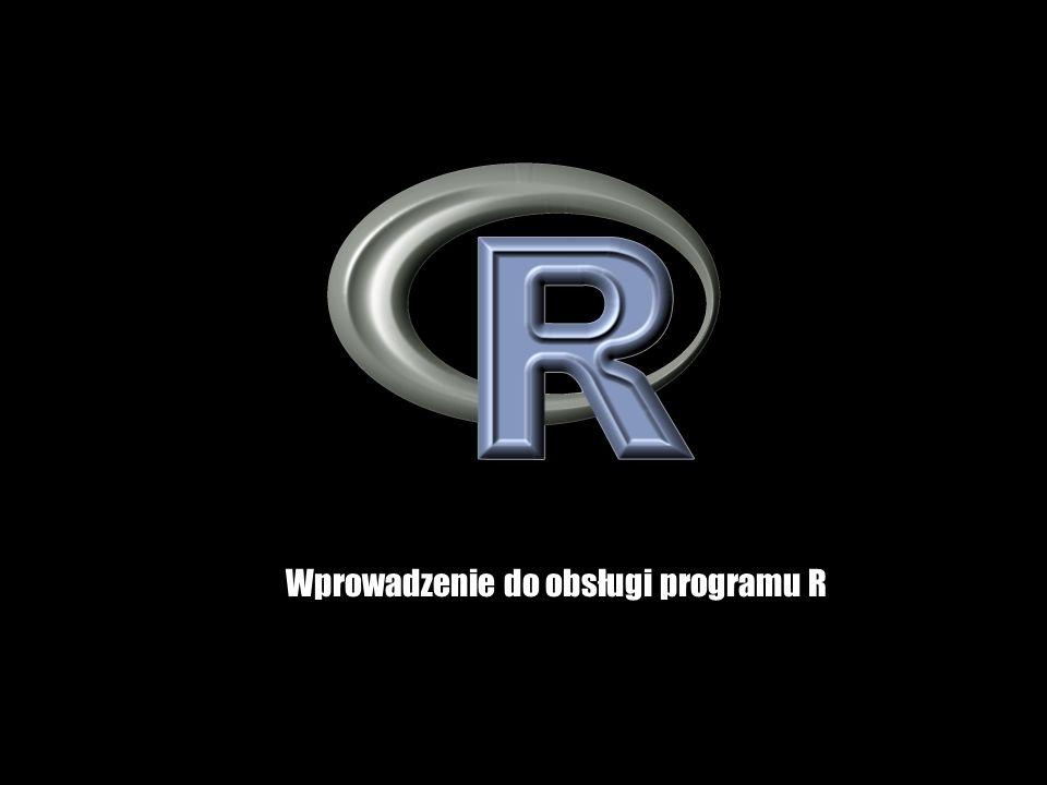 R jest środowiskiem, w którym są dostępne metody statystyczne oraz metody analizy i wizualizacji danych W ponad tysiącu pakietów dodatkowych udostępniona jest większość metod klasycznej i współczesnej statystyki System R oraz prawie wszystkie jego pakiety dodatkowe są darmowe do wszelkich zastosowań (licencja GNU GPL) R jest oparty na języku programowania.