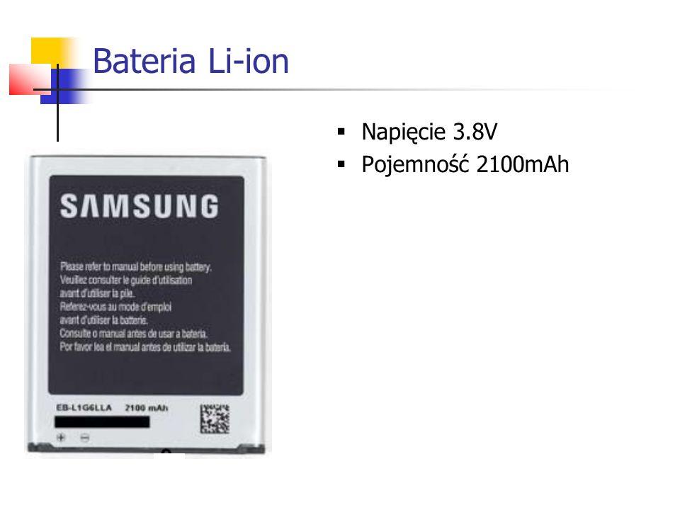 Bateria Li-ion  Napięcie 3.8V  Pojemność 2100mAh