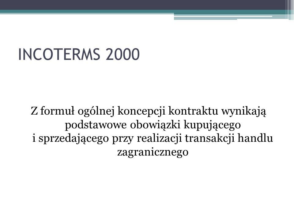 Z formuł ogólnej koncepcji kontraktu wynikają podstawowe obowiązki kupującego i sprzedającego przy realizacji transakcji handlu zagranicznego