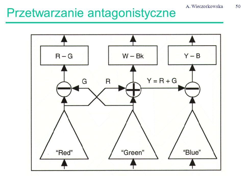 A. Wieczorkowska50 Przetwarzanie antagonistyczne