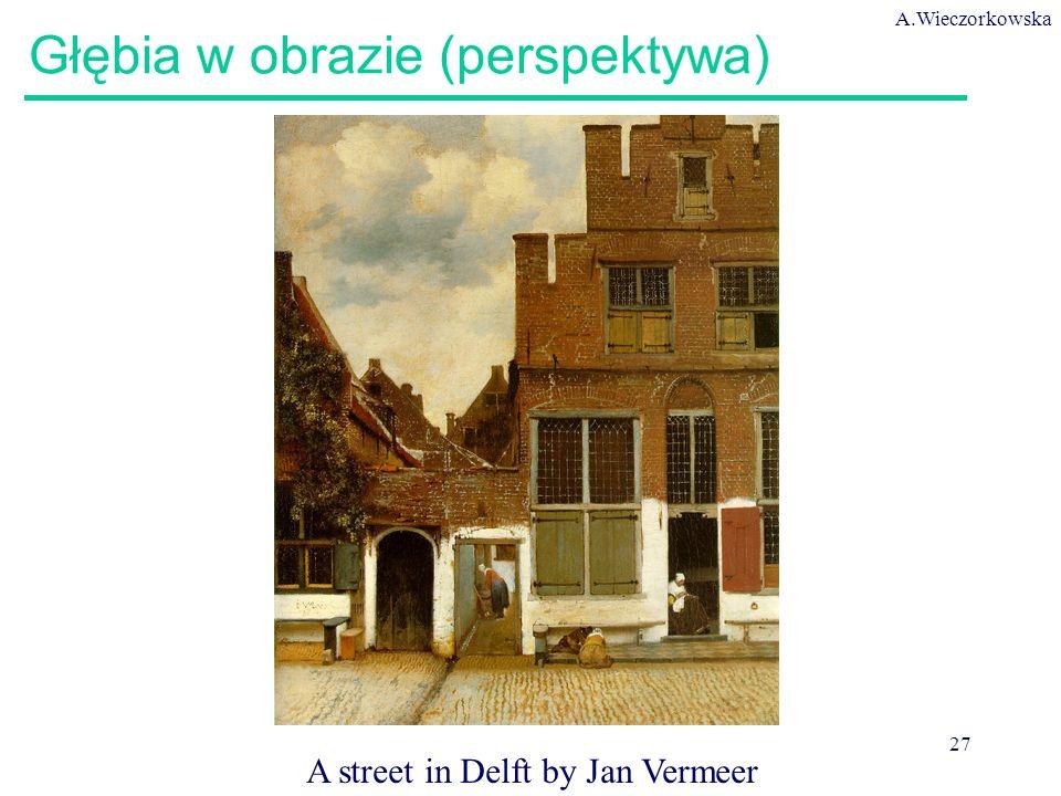 A.Wieczorkowska 27 Głębia w obrazie (perspektywa) A street in Delft by Jan Vermeer