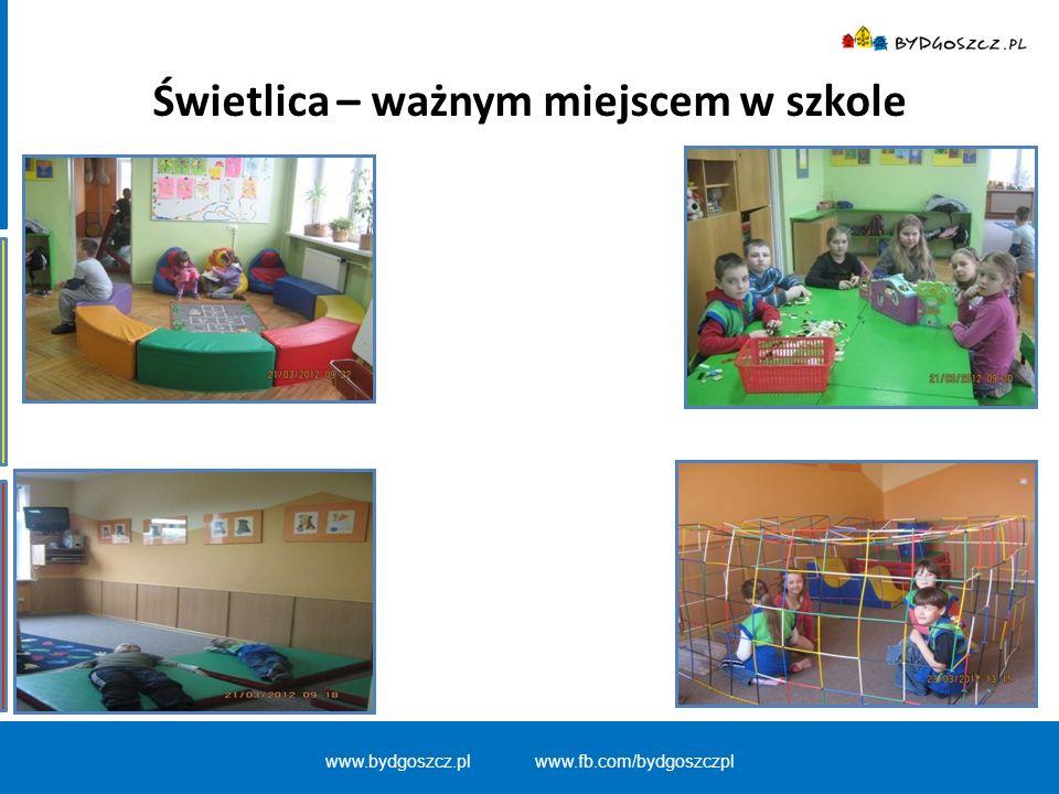 www.bydgoszcz.pl www.fb.com/bydgoszczpl Świetlica – ważnym miejscem w szkole