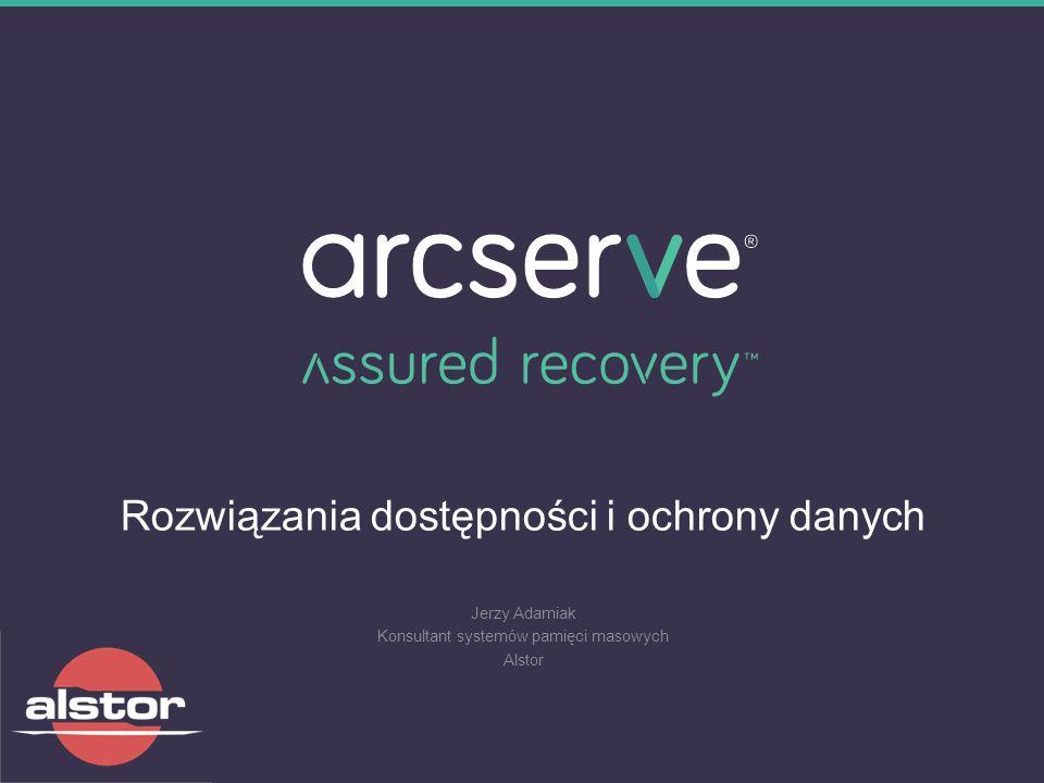 Rozwiązania dostępności i ochrony danych Jerzy Adamiak Konsultant systemów pamięci masowych Alstor