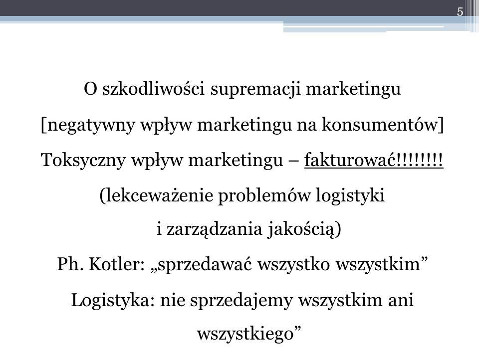 O szkodliwości supremacji marketingu [negatywny wpływ marketingu na konsumentów] Toksyczny wpływ marketingu – fakturować!!!!!!!! (lekceważenie problem