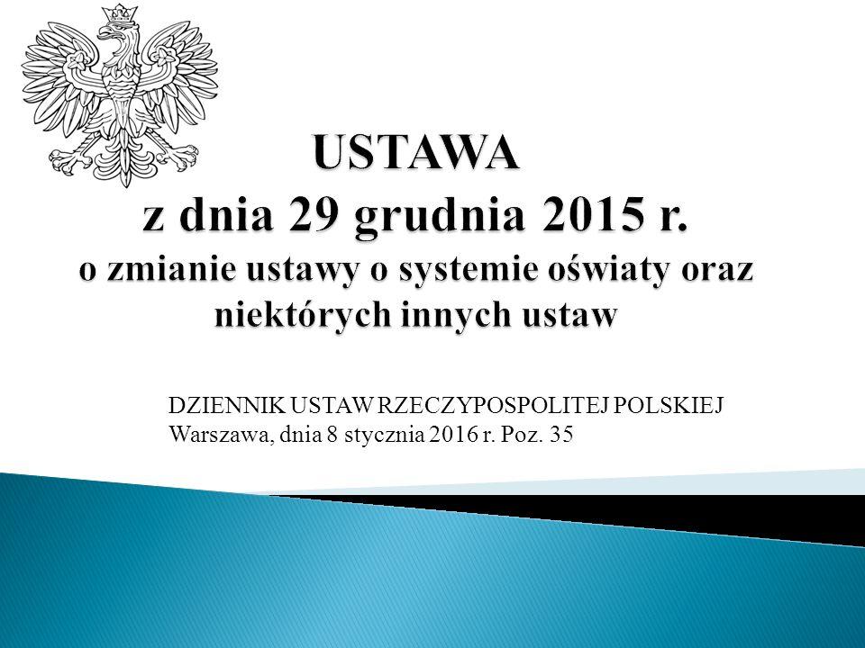 DZIENNIK USTAW RZECZYPOSPOLITEJ POLSKIEJ Warszawa, dnia 8 stycznia 2016 r. Poz. 35