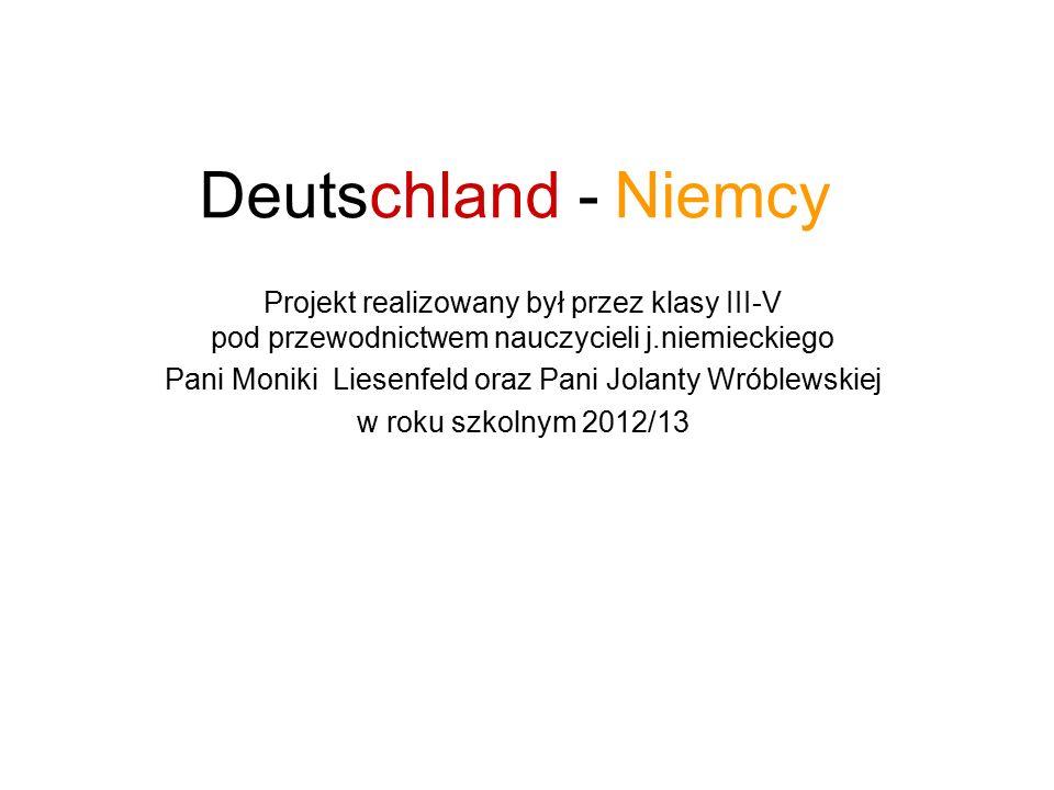 Projekt realizowany był przez klasy III-V pod przewodnictwem nauczycieli j.niemieckiego Pani Moniki Liesenfeld oraz Pani Jolanty Wróblewskiej w roku s