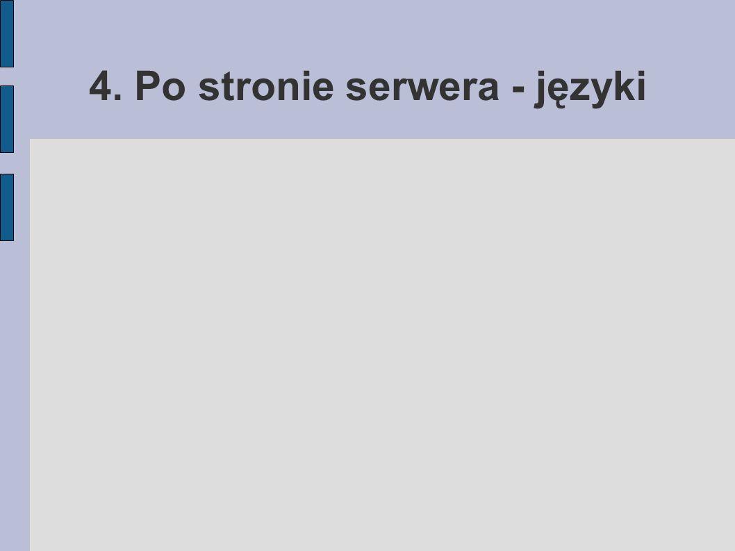 4. Po stronie serwera - języki