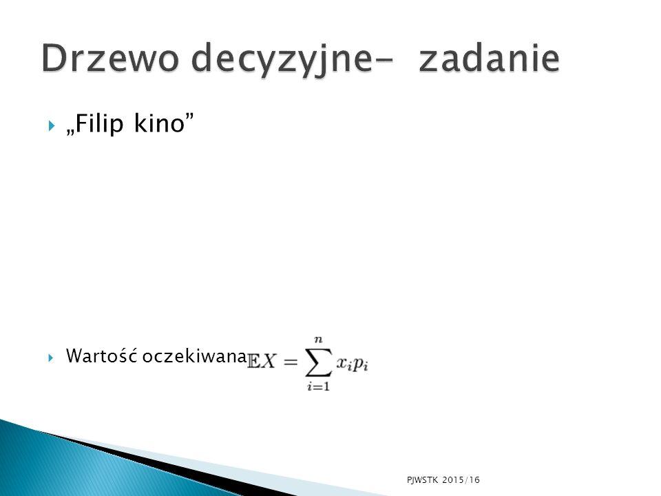 """ """"Filip kino""""  Wartość oczekiwana PJWSTK 2015/16"""