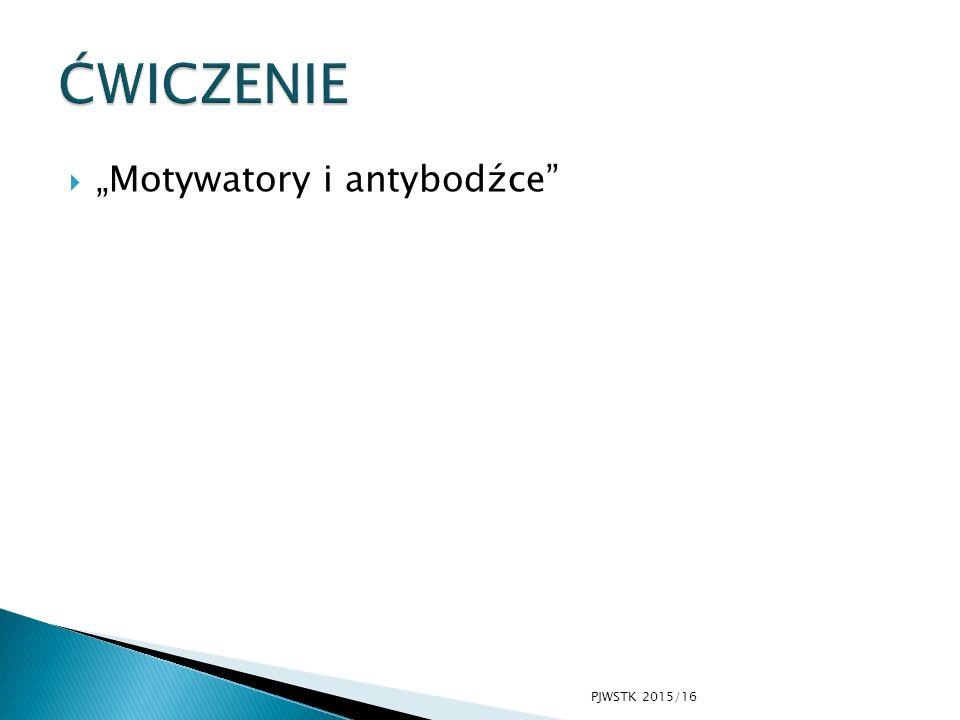 " ""Motywatory i antybodźce PJWSTK 2015/16"